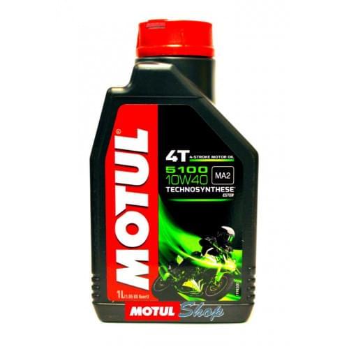 Моторное масло полусинтетика Motul 5100 Ester 4T 10W40 (1литр)